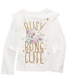 Disney® Little Girls Busy Being Cute Glitter T-Shirt