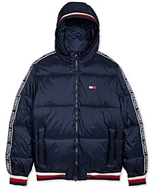 Men's Cabin Puffer Jacket with Magnetic Zipper