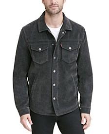 Men's Faux Suede Shirt Jacket