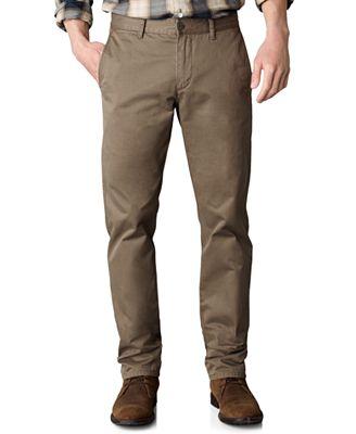 Dockers D1 Slim Tapered Fit Alpha Khaki Flat Front Pants
