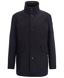 BOSS Men's Coxtan Funnel-Neck Car Coat