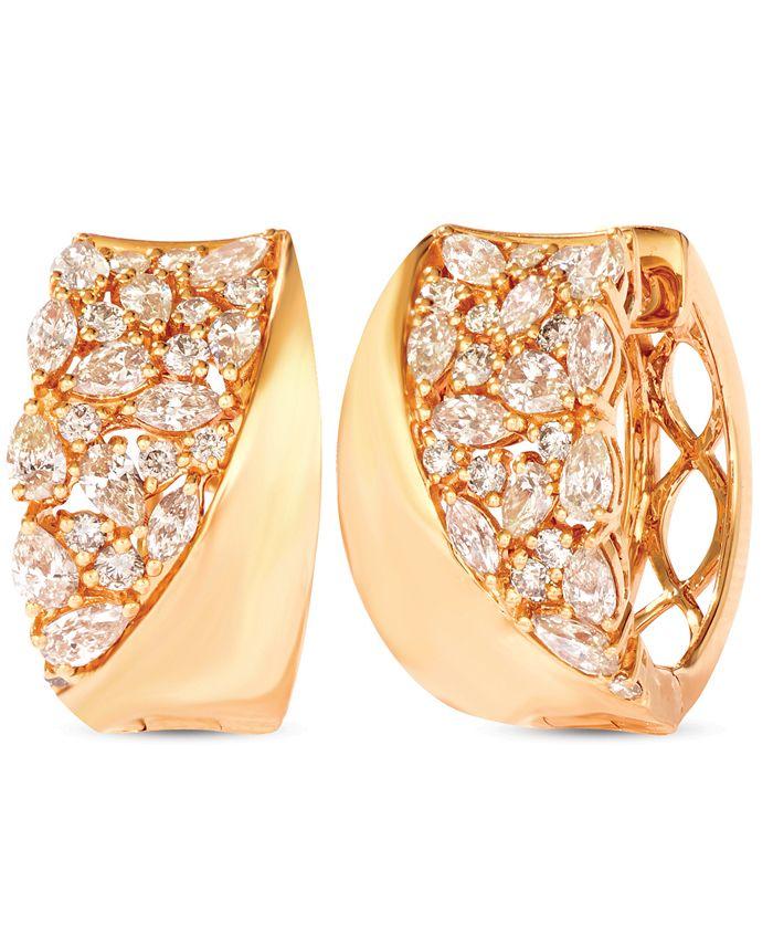 Le Vian - Nude Diamonds Hoop Earrings (1-5/8 ct. t.w.) in 14k Gold