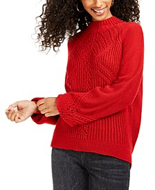 Juniors' Balloon-Sleeve Sweater, Created For Macy's