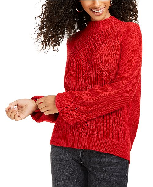 American Rag Juniors' Balloon-Sleeve Sweater, Created For Macy's