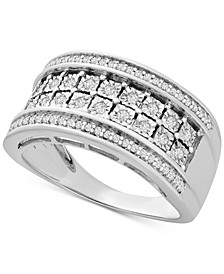 Diamond Double Row Statement Band (1/3 ct. t.w.) in Sterling Silver