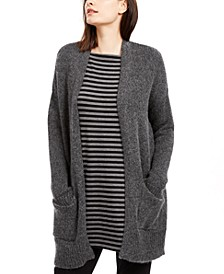 Open-Front Patch-Pocket Cardigan