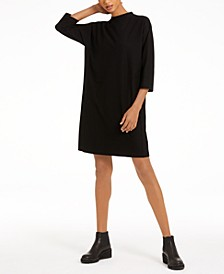 Funnel-Neck T-Shirt Dress