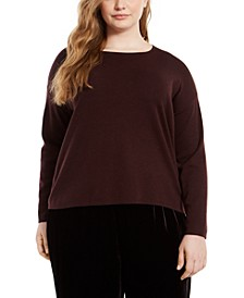 Plus Size Merino Wool Sweater