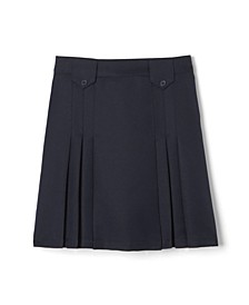 Little Girls Front Pleated Skirt with Tabs