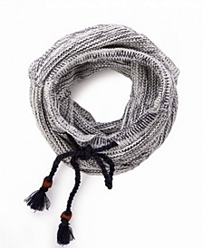 Striped Infinity Scarf with Drawstring