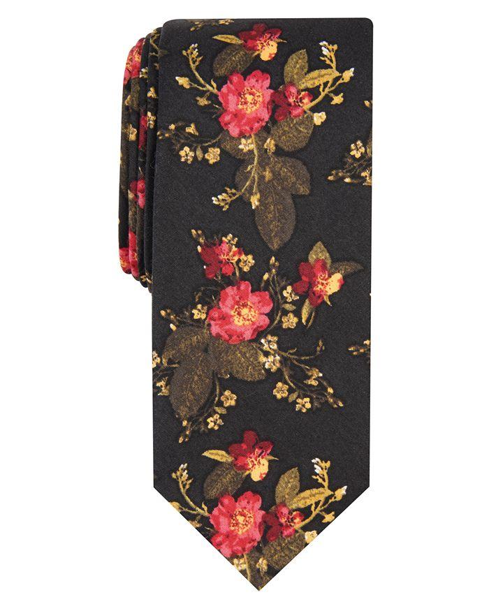 Bar III - Men's Painted Poppy Tie, Created For Macy's