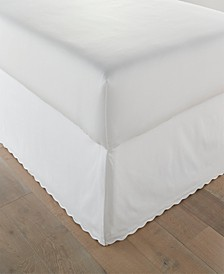 Solid Scallop Tailored King Bedskirt