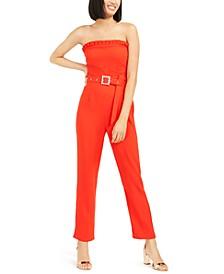 Duska Strapless Belted Jumpsuit