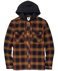 Men's Wentworth Shadow Plaid Hooded Flannel Shirt
