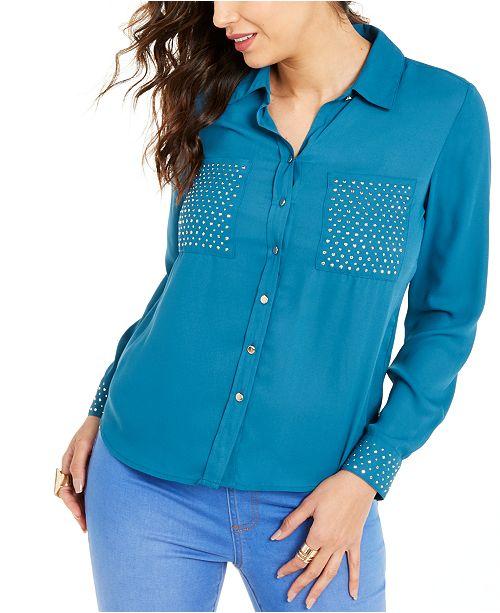 Thalia Sodi Studded Shirt, Created For Macy's