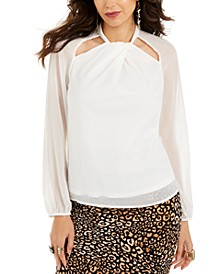 Twist-Neck Cutout Top, Created For Macy's