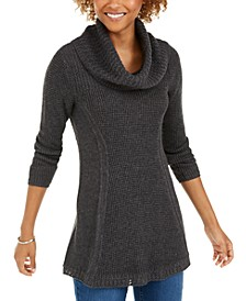 Petite Cowlneck Tunic Sweater, Created For Macy's