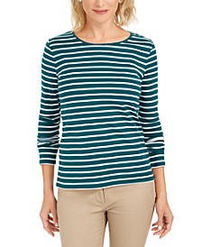 Metallic-Stripe Top, Created for Macy's