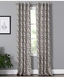 "Vanessa 50"" x 63"" Floral Curtain Panel"