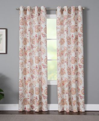 "Sabrina 50"" x 95"" Floral Curtain Panel"