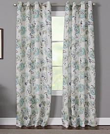 "Sabrina 50"" x 84"" Floral Curtain Panel"