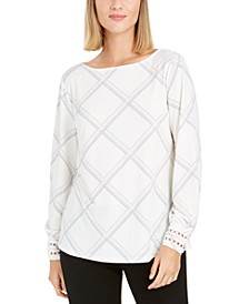 Plaid Knit Top, Created for Macy's