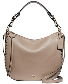 Sutton Scalloped Leather Hobo