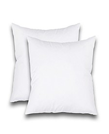 "Feather Stitch, NY Luxury 16"" x 16"" Pillow Insert 2-Pack"