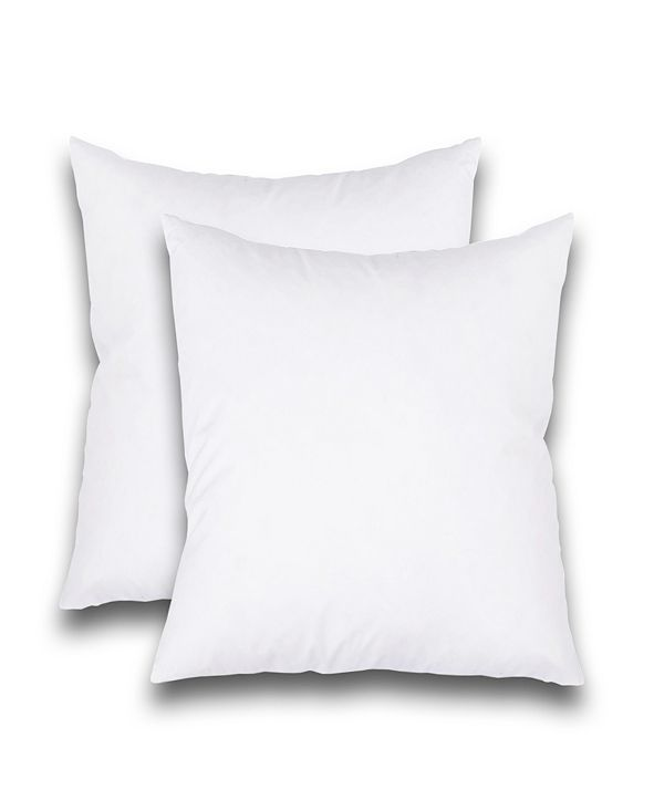 "FEATHER & STITCH, NY Feather Stitch, NY Luxury 16"" x 16"" Pillow Insert 2-Pack"