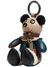 Leather Scarecrow Bear Wizard of Oz Charm