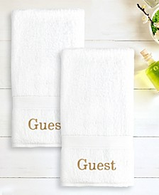 "100% Turkish Cotton ""Guest"" 2-Pc. Hand Towel Set"