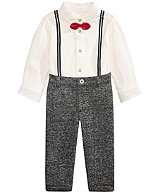 Baby Boys 2-Pc. Bowtie Shirt & Pants Set, Created For Macy's