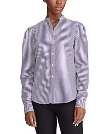 Puff-Sleeve Cotton Shirt