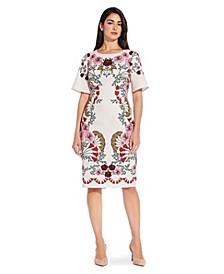 Floral Printed Sheath Dress