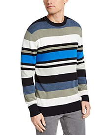 Men's Regular-Fit Variegated-Stripe Sweater