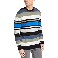 Deals on DKNY Mens Regular-Fit Variegated-Stripe Sweater