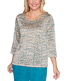 Alfred Dunner Walnut Grove Space-Dye Knit Top