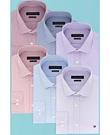 타미 힐피거 체크 셔츠 Tommy Hilfiger Mens Slim-Fit Stretch Check Dress Shirt, Online  Created for Macys