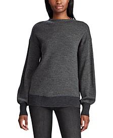 Wool Blouson-Sleeve Sweater