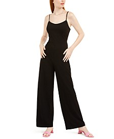 Juniors' Lace-Back Jumpsuit
