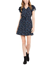 Printed Ruffle-Sleeve Dress, Created For Macy's