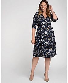 Womens Plus Size Essential Wrap Dress