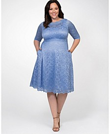 Women's Plus Size Lacey Cocktail Dress