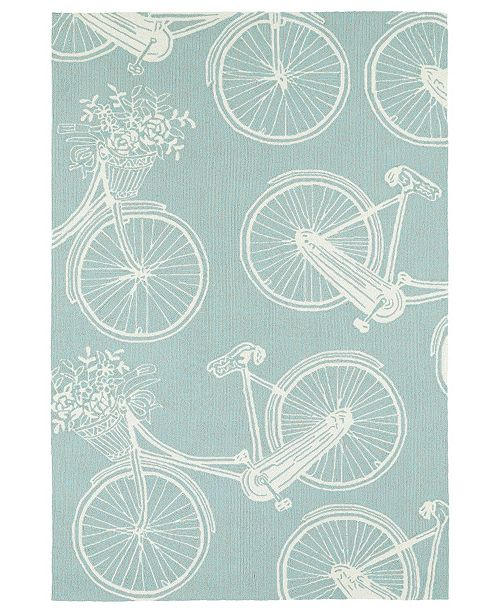 "Kaleen Sea Isle SEA07-79 Light Blue 5' x 7'6"" Area Rug"