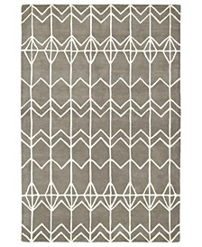 Origami ORG05-75 Gray 8' x 10' Area Rug
