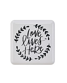 Love Lives Here Farmhouse Home Decor Wall Art
