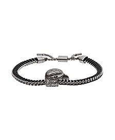 Emporio Men's Eagle Head Stainless Steel ID Bracelet