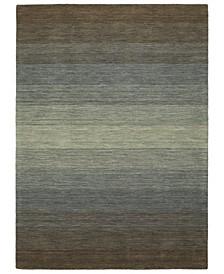 "Shades SHD01-49 Brown 7'6"" x 9' Area Rug"