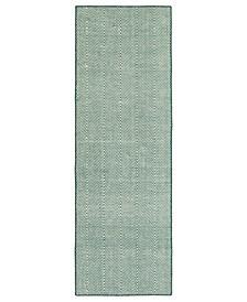 Ziggy ZIG01-91 Teal 2' x 6' Runner Rug