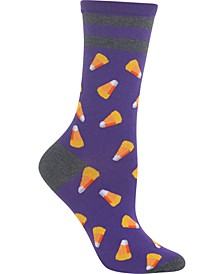 Women's Candy Corn Crew Socks